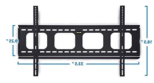 Mount-It! Premium Fixed Bracket inch LCD, 4K Flat Screen lbs, VESA 850x450