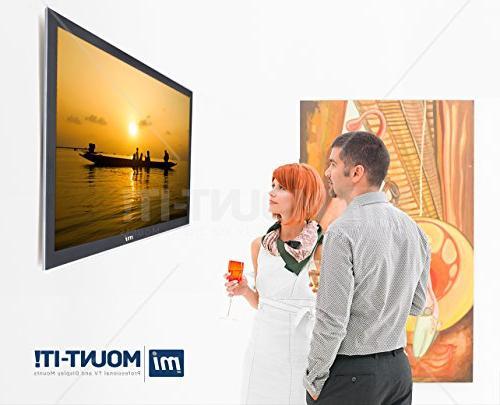 Mount-It! MI-305L Premium Fixed TV Bracket for 42-70 LCD, 4K Screen lbs,