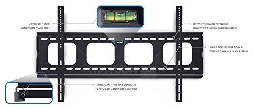 Mount-It! Premium Fixed TV Wall Bracket for LCD, LED, 4K Screen lbs,