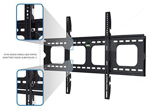 Mount-It! Premium Low-Profile Fixed Wall Mount Bracket inch LCD, LED, Screen lbs,