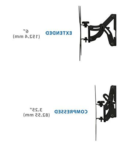 """Mount-It! Tilting, Swiveling, Articulating Wall with Extendable Swing Out Arm for 42"""" Flat Screen LED Plasma Displays,66"""