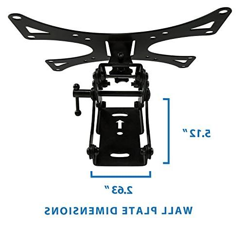 Mount-It! Full-Motion Swiveling, Wall Mount Bracket Extendable Out for Flat Panel Displays,66 lb