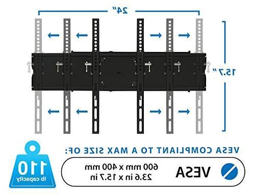 Mount-It! Swivel Mount Full Flat Screens, 32 35 40 50 60 65 Screen TV, 110 Black