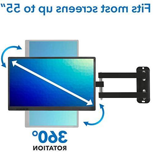 Mount-It Wall Full Motion LCD, 4K TV Swivel for 400x400,