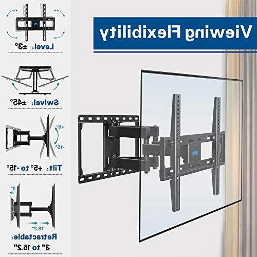 Mounting Dream Wall Mount Bracket for Most Full Motion Mount with Swivel Dual Arms, Max VESA 400x400mm, 99 LBS Loading MD2380