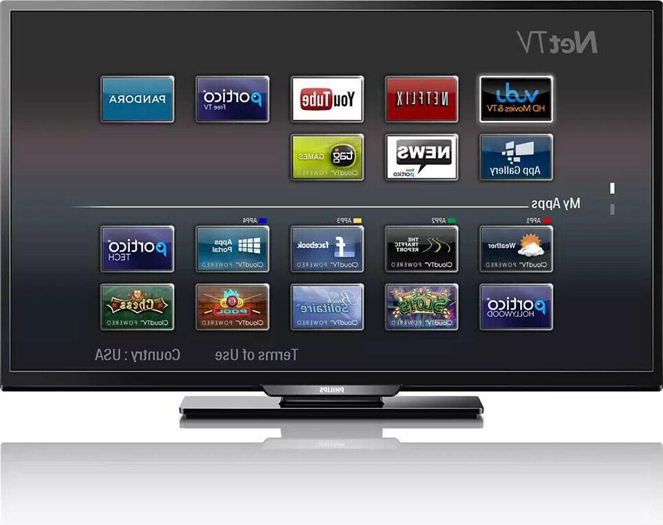 "Philips® 43"" 1080p 120Hz PMR Smart LED LCD TV"