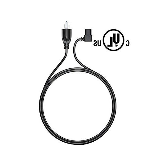TV Power Cable: Extra Ft L-Type Plug for Vizio Toshiba Sony Panasonic Lg Monitor Plasma LED Screen 360 Epson Printer