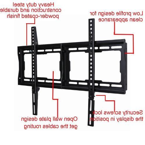 Wall Most LCD Plasma Compatible Bravia Samsung Vizio AQUOS Pioneer ProScan