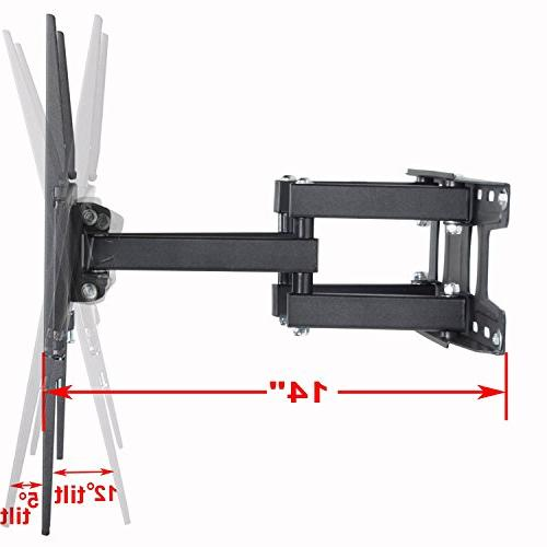 VideoSecu TV Wall Mount Bracket most 32-65 Inch LED, LCD, Screen Full Motion Dual Arms up LBS WR9