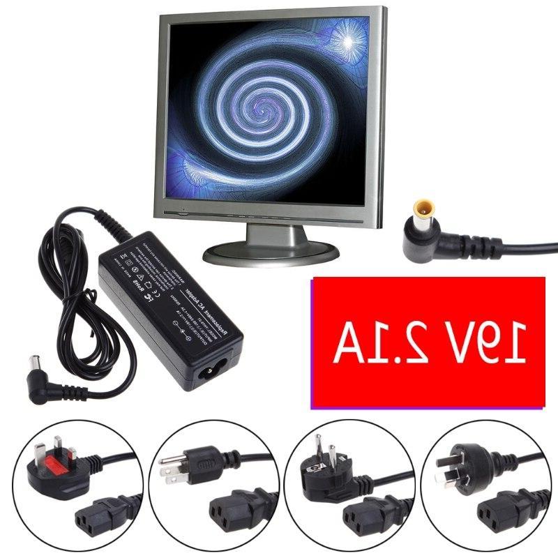 Charger Adapter <font><b>Cord</b></font> 19V 2.1A For LG Monitor <font><b>LCD</b></font> <font><b>TV</b></font>