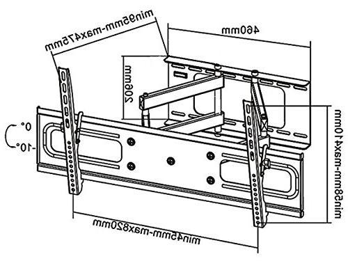 Black Mount Samsung UN60KU6300FXZA UHD TV/Television - Articulating/Tilting/Swiveling