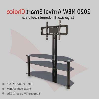 Corner Floor TV with Swivel Shelf for