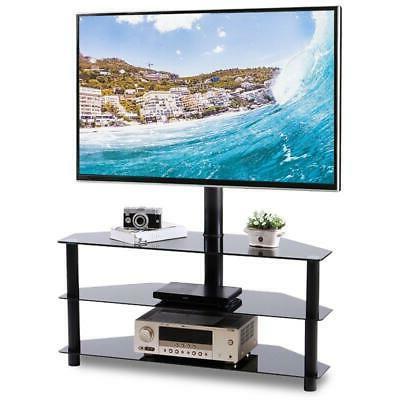 corner floor tv stand with swivel mount