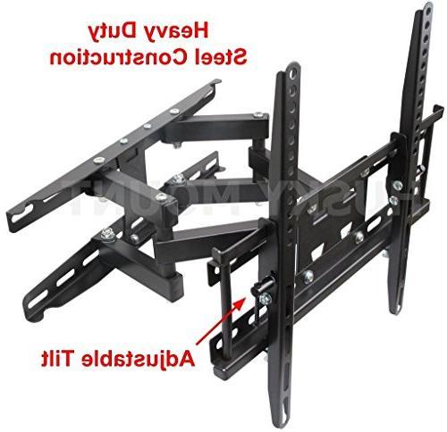 Husky 55 Inch Arm Mount. Tilt Swivel TV Bracket. Fits 32 37 40 42 46 55 Inch LED LCD Plasma Flat Screen. TV Mount up 400 x 400 and 90