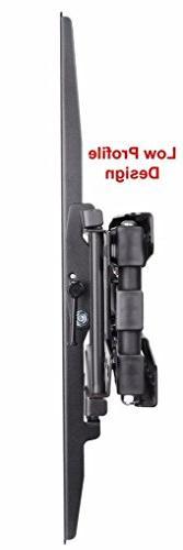 Husky Mounts - 55 Full TV Mount. Swivel Articulating TV Bracket. 37 46 55 Inch Plasma Screen. Vesa TV Mount up to 400 x 400 90 Lbs Capacity.