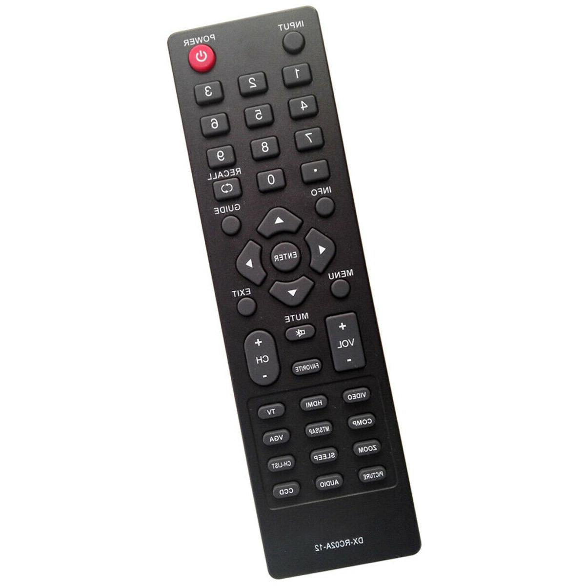ZdalaMit DX-RC02A-12 Replace Remote Control For Dynex DX-40L130A11 DX-55L150A11 DX-15L150A11 DX-40L150A11 DX-46L150A11 DX-24E150A11 DX-32L220A12 DX-37L200A12