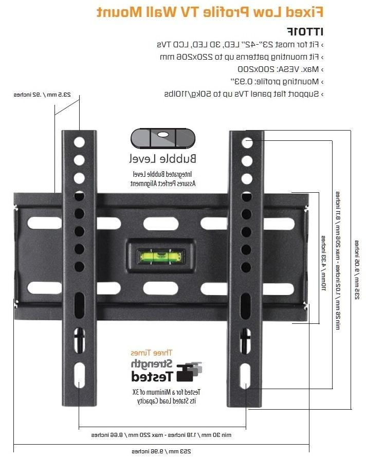 Fixed LCD TV Wall Mount 26 40 42