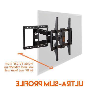"""ECHOGEAR Full Motion Articulating TV Wall Mount 37-70"""" LCD, Plasma TVs"""