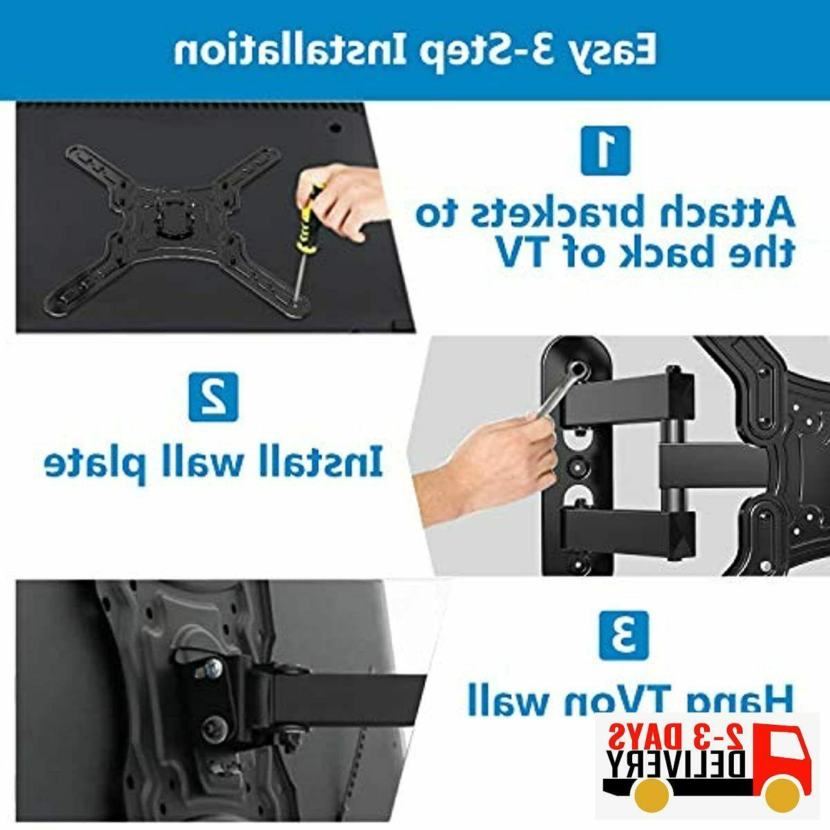 JUSTSTONE Full Motion Wall Mount Most 28-55 TVs, TV Br