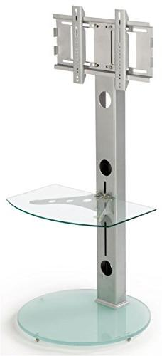 Glass TV Stand with Shelf for a 17 to 60 Inch Plasma Televis