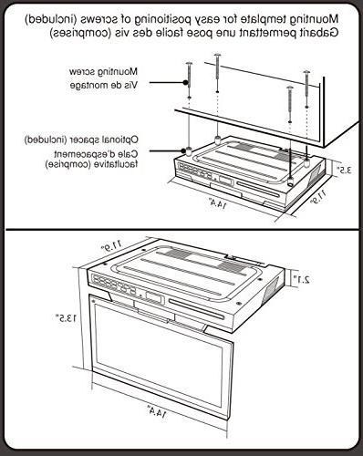 Venturer KLV3915 15.4-Inch Kitchen