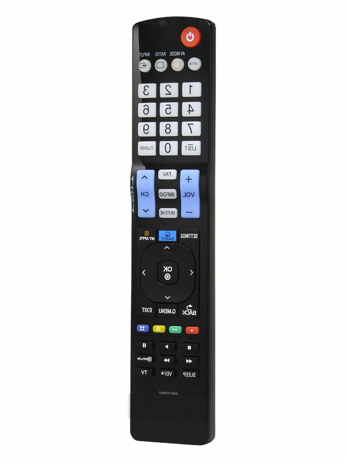 LG AKB73756567 Replaced LCD HDTV Remote for Smart