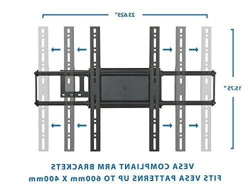 Mount-It! Mount Motion Bracket for Flat Screen LCD, LED 40, 42, 50, 52, 60 inch to Long Arm