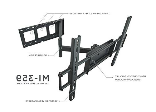Mount-It! MI-359 Wall Mount Articulating Swivel Stand for Flat LED 32, 40, 42, 48, 49, 50, 60 to 600x400, Long Arm