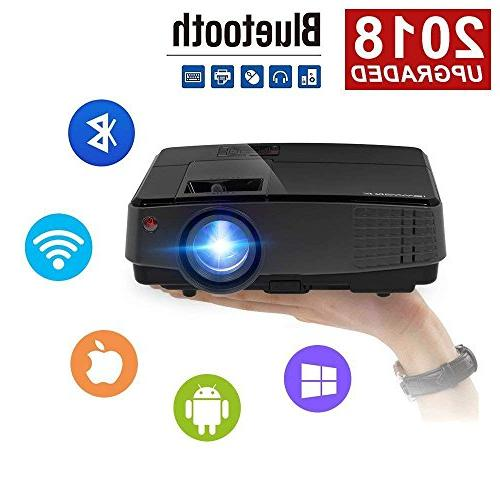 mini portable projector hdmi wireless