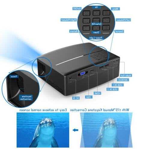 GP80UP Multimedia 4K WiFi Android Bluetooth Projector Home