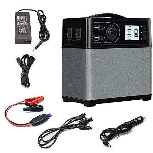 portable solar generator 400wh lithium