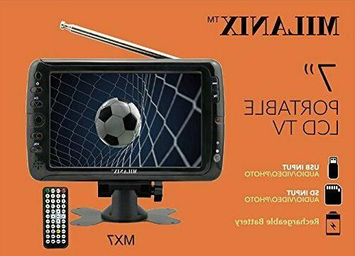 Portable TV Rechargeable LCD FM USB/SD INPUT AC/DC