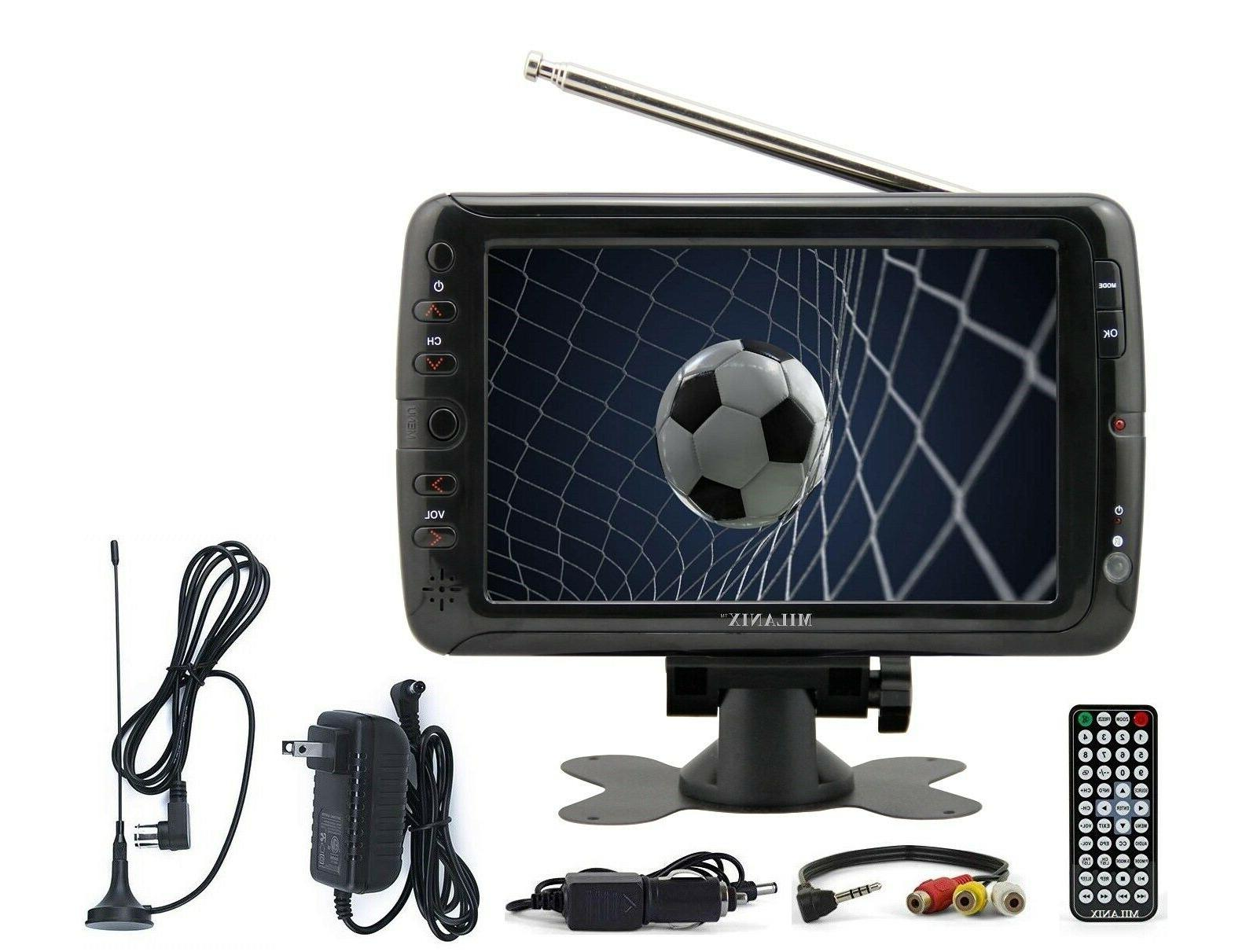 portable tv rechargeable 7 lcd digital television