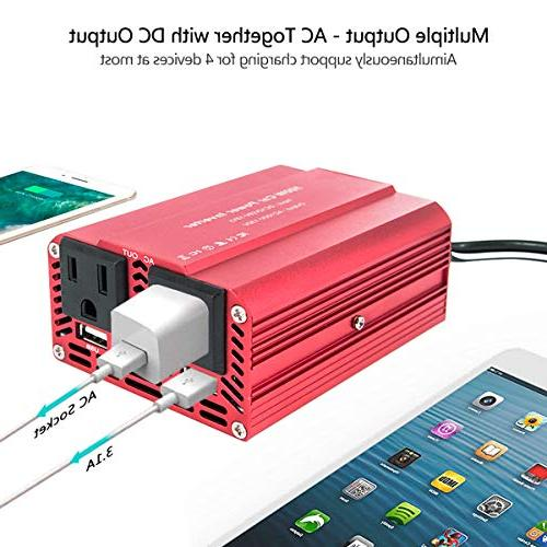 imoli Power Inverter DC Sine Wave 3.1A AC Outlets Home Travel