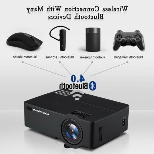 4K HD 1080P Theater LED Wifi Projector HDMI