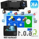 4K Wifi Wireless 1080P HD Android 6.0 LED Projector Smart Ho