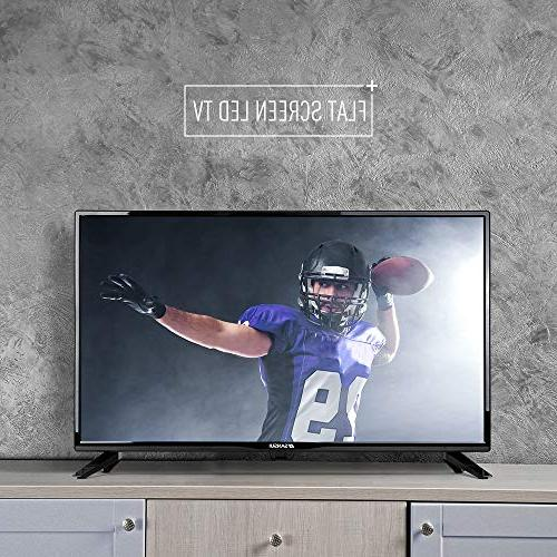 """SANSUI 32"""" 720p Flat Screen PCA Input Definition and 2"""