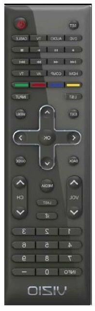 Vizio TV Remote for LCD/LED TVs VUR11 URC6160BY0R E320VA E32