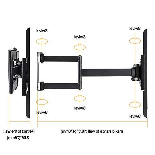 Vemount Corner Mount Bracket Full for LG Sony Sharp LCD Flat Screen Panel TV with Arms to 600x400mm