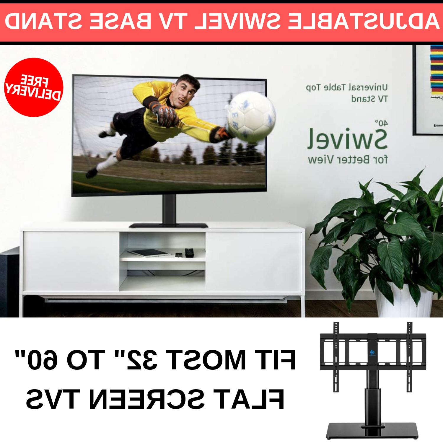 """Universal Adjustable Swivel TV Base Stand 32"""" to 60"""" LCD LED"""