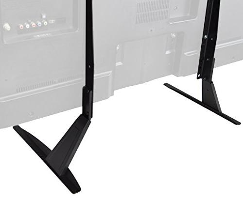 VIVO Universal LCD Flat Screen Table Stand Base to 55 Screens