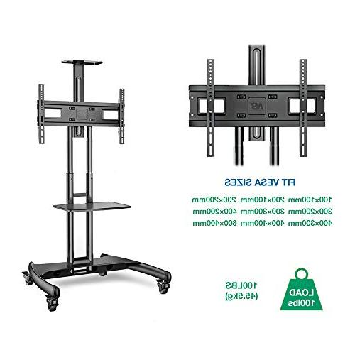 North Bayou Mobile Cart Stand Wheels to 65 OLED Screens to 100lbs AVA1500-60-1P