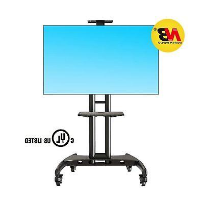 North Bayou Mobile Cart Stand with Wheels for to 65 LCD OLED Flat Screens AVA1500-60-1P