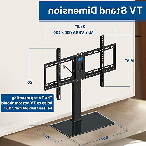 Mounting Dream Stand, Swivel Table TV Stands Mount for Screen 4 Height Adjustment Base, 99 with Strap