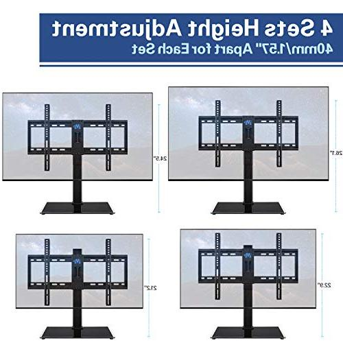 Mounting Universal TV Stand, Table Top TV Stands Mount for 42-60 inch Screen Adjustment with Base, Max 99 LBS with Anti-tip Strap