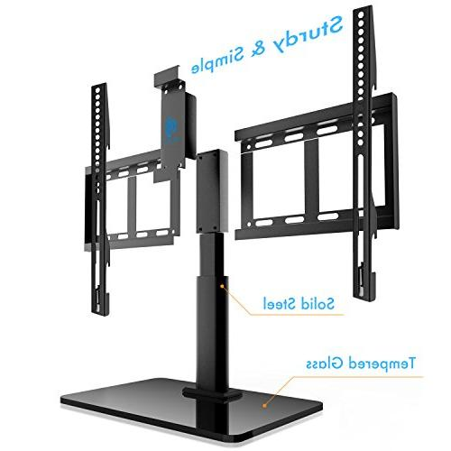 HUANUO HN-TVS02 Universal Top TV 32 60 Inch Swivel, Inch Adjustment,Tempered Glass up to Screens