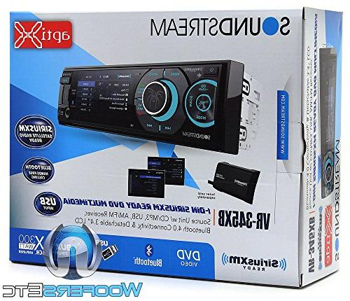 pkg VR-345XB 1-DIN Screen DVD Stereo Receiver XM XO Vision Backup with Nightvision