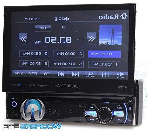 "Soundstream VR-75XB 7"" LCD CD/MP3, Bluetooth 4.0 & SiriusXM Ready"