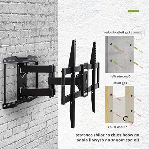 Full Mount with Swivel Tilt Arms for Most 42-70 Flat Screen, 4K TVs-with Capacity Up to 99lbs, Fits Stud by USX Mount