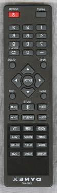 NEW Dynex ZRC-400 LCD TV Remote Control DX-15L150A11, DX-22L